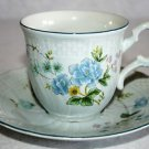 Mikasa Precious Blue Michelle Cup & Saucer MULTIPLES AVAILABLE