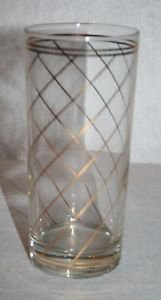 Culver Elegant Barware High Ball Tumbler Gold Bands MULTIPLES AVAILABLE