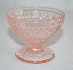 Pink Depression Glass Footed Ice Cream Sherbert Dessert Bowl Cup MULTIPLES AVAIL