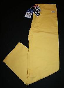 NWT Crest Scrub Drawstring Pants XS Women's Unisex Lemon Yellow Nursing Vet #114