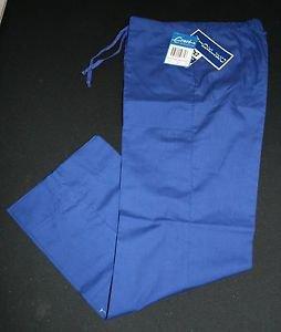 NWT Crest Scrub Pants S Womens Wideleg Electric Blue Nursing Vet Style 148