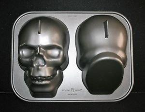 Nordic Ware Haunted Skull Pan Halloween 3D Cake Pan Mold