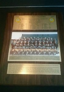 NFL Green Bay Packers 1966-1967 World Champions Plaque Superbowl I autographed