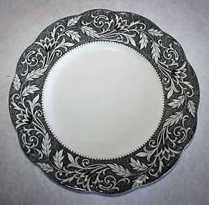 J&G Meakin RENAISSANCE Black Dinner Plate English Sterling MULTIPLES AVAILABLE