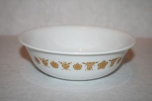 """Corelle 6"""" Soup Cereal Salad Bowl Butterfly Gold Corning Ware MULTIPLES AVAIL"""