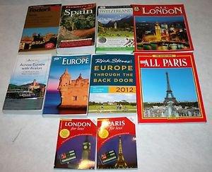LOT of 10 Travel Guide Books-SPAIN -PARIS - LONDON - SWITZERLAND - EUROPE