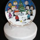 # Danbury Mint Merry Christmas Charlie Brown Peanut Plate Snoopy Woodstock