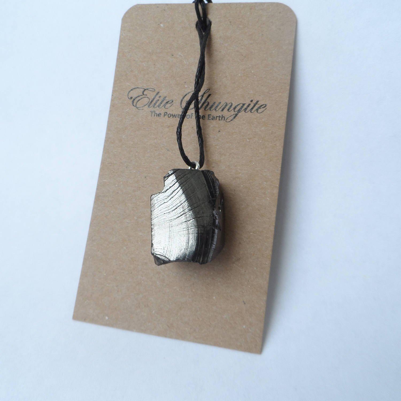 Noble (Elite) Shungite pendant, Elite Shungite in handmade, Shungite Jewelry