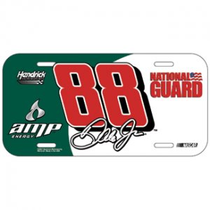 Dale Earnhardt Jr. #88 GR/WHITE License Plate