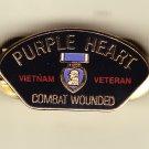 Vietnam Veteran Purple Heart Hat Pin