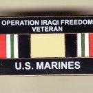 Iraq Veteran Marine Hat Pin