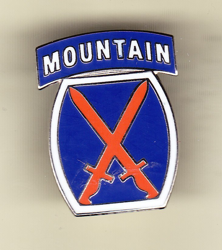 10th Mountain Division Hat Pin