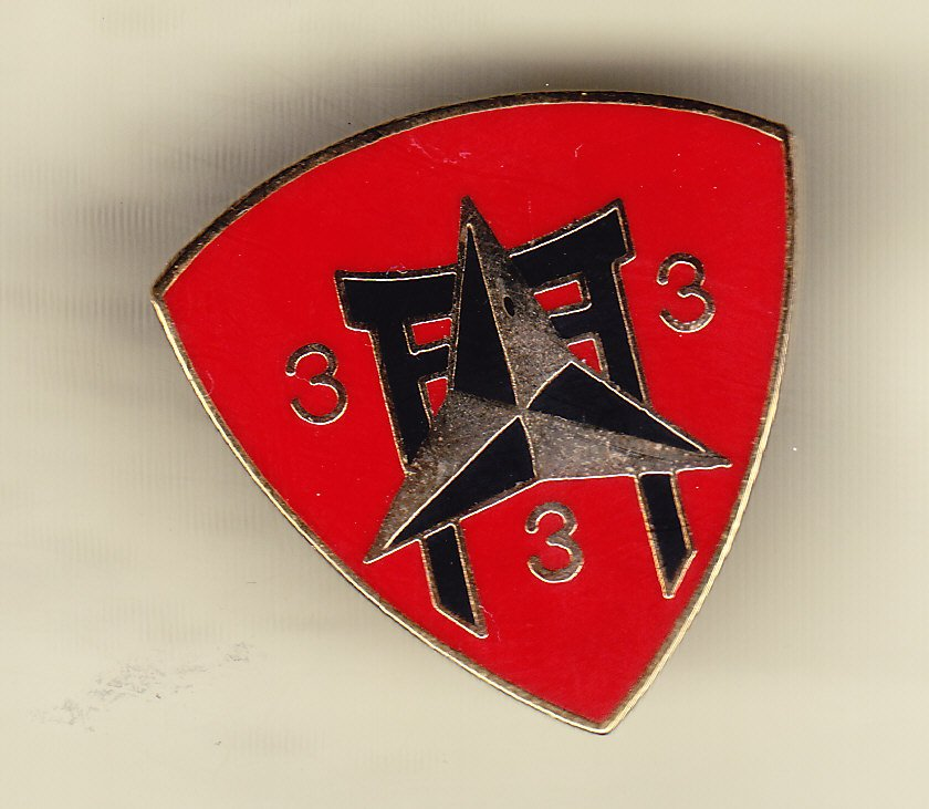 3rd Battalion 3rd Marine 3rd Division Hat Pin