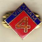 4th Marine Division Vietnam Hat Pin