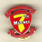 7th Marine Regiment Hat Pin