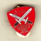 21st Marine Regiment Hat Pin