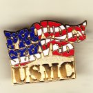 Proudly Served Marine Hat Pin