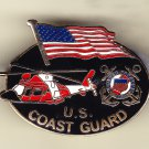 Coast Guard with Flag/Helicopter Hat Pin