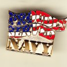 Proudly Served Navy Hat Pin