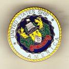 USS America CV-66 Hat Pin