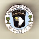 101st Airborne Division Liberation of Kuwait Hat Pin