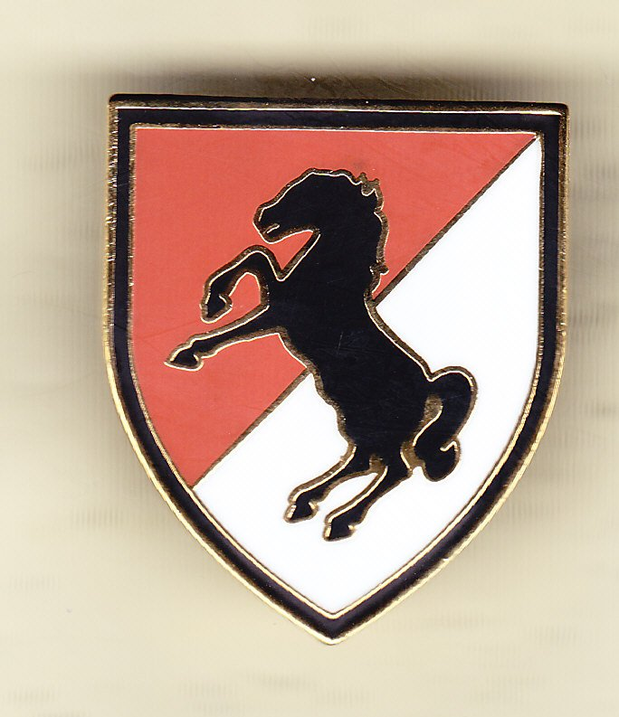 11th Armored Cavalry Regiment Hat Pin