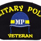 Military Police Veteran HAT PATCH ONLY