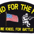 Stand for the Flag , We kneel for Battle HAT PATCH ONLY