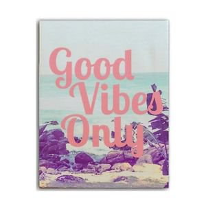 "Ankit Good Vibes Only Wall Art Canvas for Home Decoration (7.5"" x 9.75"")"