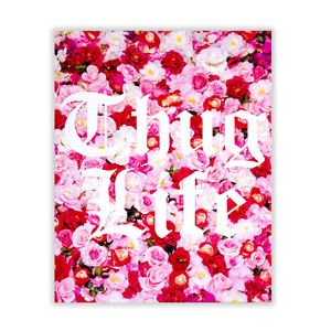 "Ankit Thug Life Roses Wall Art Canvas Bohemian Water Color (11"" x 14"")"