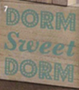 Ankit Dorm Sweet Dorm Wood Art (4x5in)