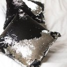 Black Sequin Pillow with Insert Mermaid Magic Glitter Reversible Color Changing