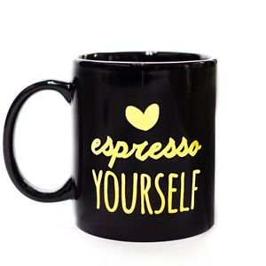 Ankit Espresso Yourself Mug, Funny Novelty Fun With Sayings Quote Gifts  (11 Oz)