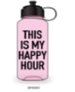 Ankit This is My Happy Hour Pink Sports Bottle 35 Oz Gym And Tonic BPA Free