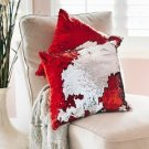 Red Sequin Pillow with Insert Mermaid Magic Glitter Reversible Color Changing