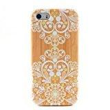 Ankit Wood White Filigree iPhone 5/5S,Super Cute Girls Protective Beautiful Design Case  4-inch