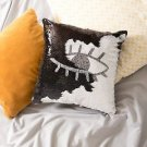 16x16 Mermaid Pillow with Insert Black/White Eye with Flip sequin Throw Pillow