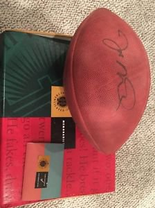 Joe Montana Authentic Autographed Upper Deck Football With COA AND BOX