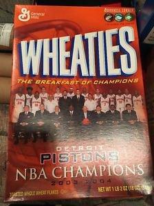 Detroit Pistons Championship WHEATIES Box UNOPENED 2003-2004