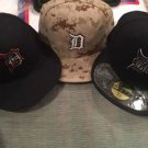 Detroit Tigers Fitted caps Memorial Day /Labor Day Caps Selling All 3 As A Pkg