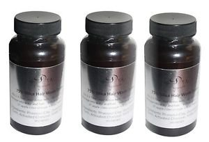 3x  BOTTLES 75% Silica hair wash Detox Clay Activated Charcoal Cleanse follicles