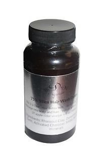 75% Silica hair wash Detox Deep Cleans Clay Activated Charcoal GROW hairloss fol