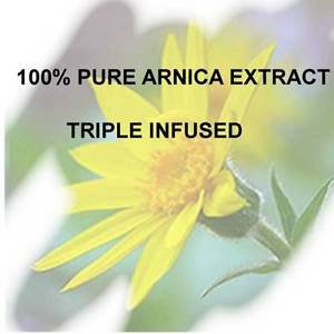 100% Arnica Extract TRIPLE INFUSED POTENT 6oz. bruises pain inflammation hair
