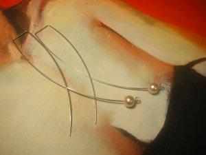 indigo ball earring