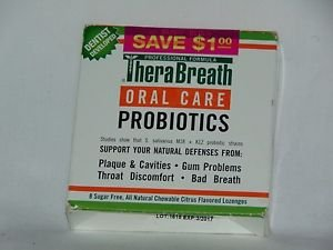 TheraBreath Dentist Recommended Oral Care Probiotics , 8 Lozenges