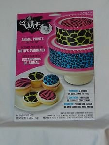 Duff Goldman Cake Tattoo Animal Prints 1 PACK Contains 2 Edible Sheets Free Ship