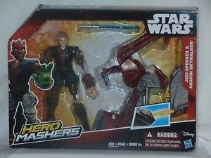 Star Wars Hero Masher Jedi Speeder Anakin Skywalker Action Figure B3833AS0 4+