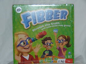 """""""FIBBER STRETCH THE TRUTH AND YOUR NOSE MAY GROW"""" game NEW - Ready to Ship"""