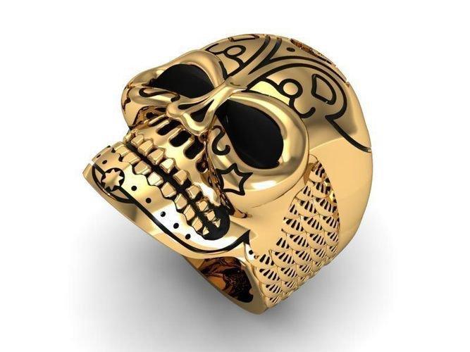 Men's 10 kt  Skull Ring