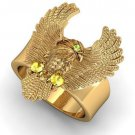 Men 10 kt Eagle Ring